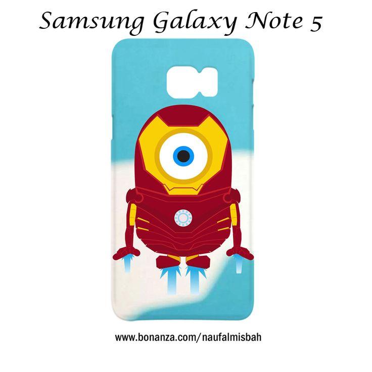 Despicable Me Minion Iron Man Samsung Galaxy Note 5 Case Cover Wrap Around