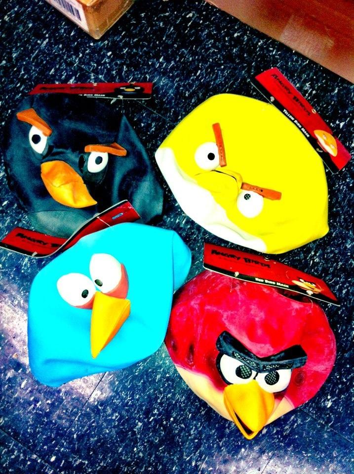 Angry Bird Halloween masks