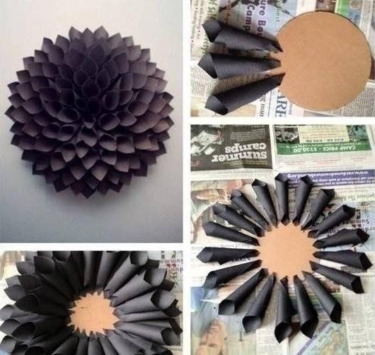 Great effect :) #diy #diy do it yourself #ornamentation #flower #easy #teen