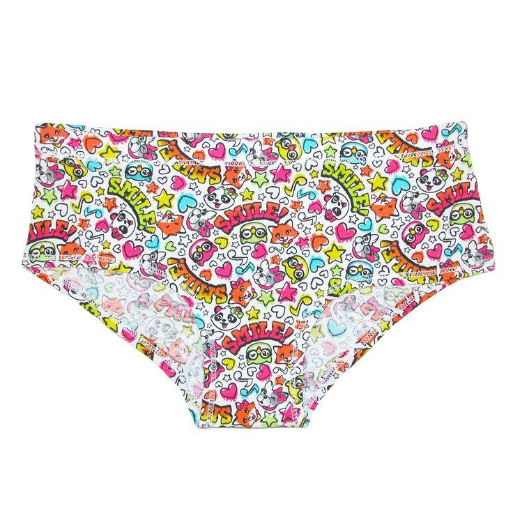 Rene Rofe Girl's Smile Hipster Underwear