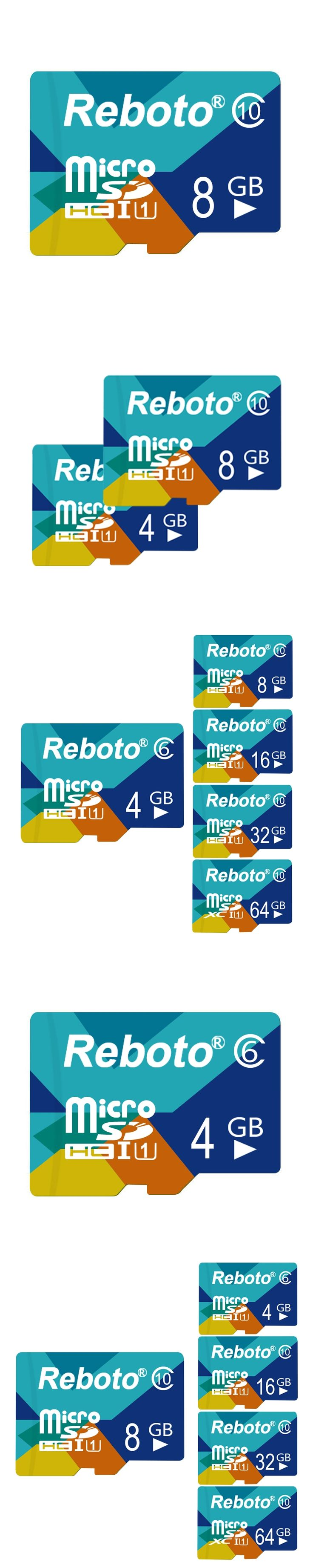 Reboto Micro SD Memory Card 8GB Class6 8GB 4GB TF card Blue Microsd Card Flash Memory Card For Smartphone