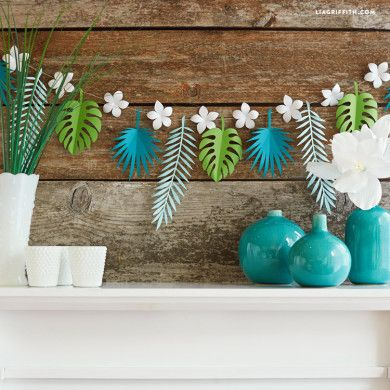 If you want to add some tropical flavor to your life, we have plenty of tropical DIY projects that you can use to incorporate into your home or party decor!