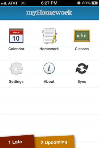 The myHomework app makes keeping track of coursework a snap! The app features: homework organizer, homework widget, class schedule, and a homework calendar. Upgrade for a small fee and students can sync data onto multiple devices. This app is great for students in middle school, high school, or even college!