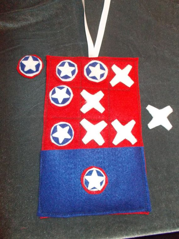 super hero tic tac toe Captain America take along game by TwoFrillyFillies on Etsy