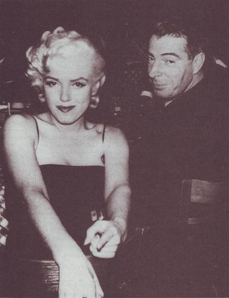 Marilyn and Joe. 26 February 1955, Jackie Gleason's birthday