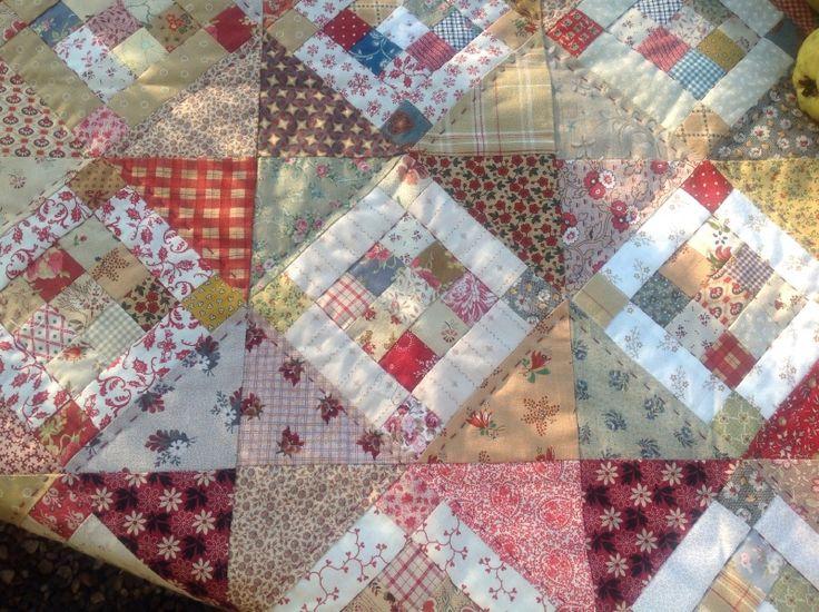 Quiltstofjes Assortie met patroontje van het 9 patch blokje | Quiltstof pakketjes | Atelier Bep