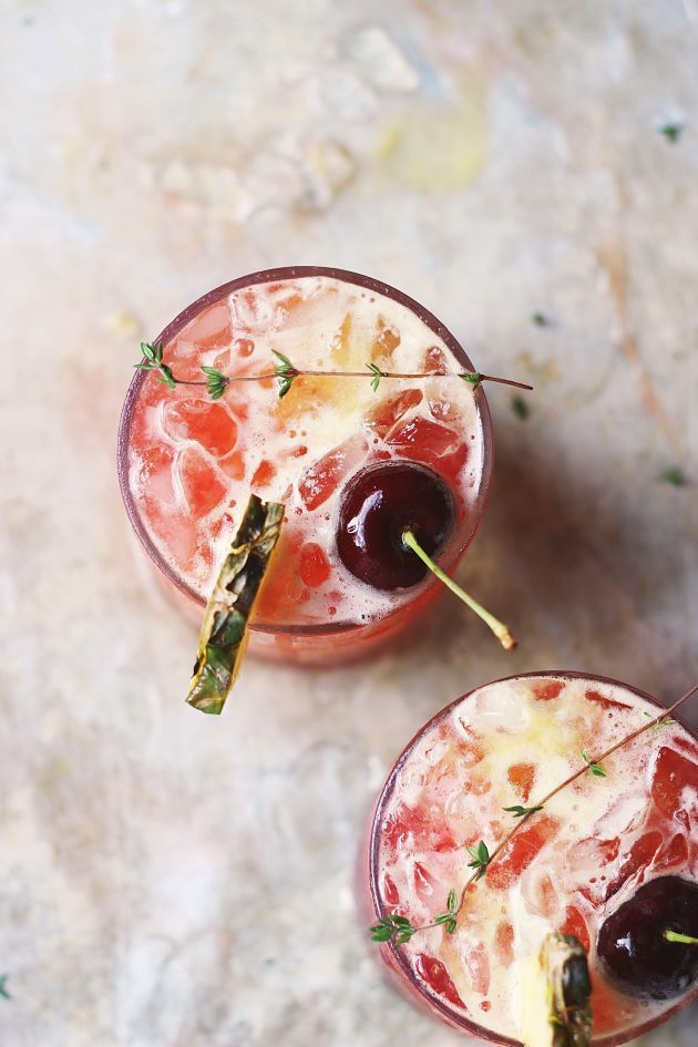 Can't wait to try this modern mai tai with hibiscus + thyme recipe.