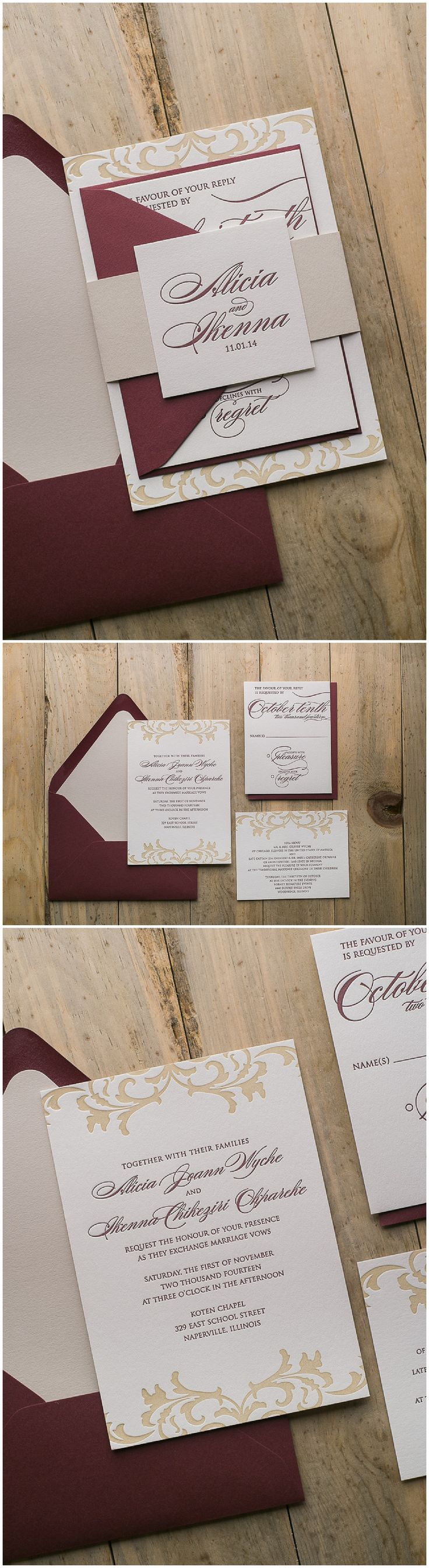 in wedding invitations is the man s name first%0A Real Wedding  Alicia and Ikenna