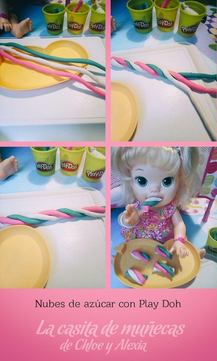 Nubes de azúcar con Play Doh. (Baby Alive Snackin' Sara o Sara comiditas divertidas)