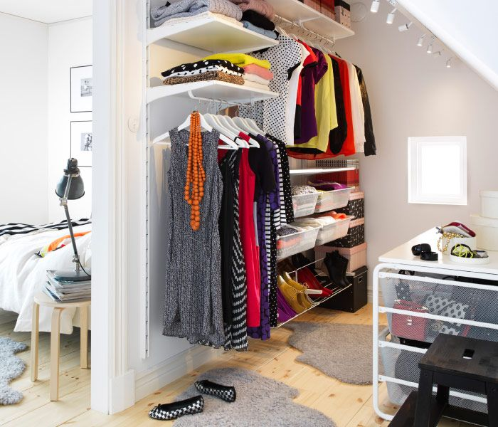 Algot clothes storage system in a walk in closet i need more closet space pinterest - Clothing storage for small spaces image ...
