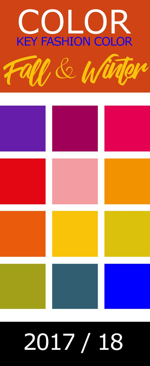 KEY FASHION COLOR ! Welche Farben trägt man im Herbst & Winter 2017 / 2018 ?  Colors , Styles & Outfit-Inspirations ! Barocke Üppigkeit ist auch bei den Farben im kommenden Herbst & Winter angesagt. Ein ganz großes Thema ist Violett, denn Lila ist zurück und wird durchaus mit Rottönen kombiniert. Sattes tiefes Himbeerrot gepaart mit dunklem Lila und dazu goldenes Senfgelb, so lässt das barocke Zeitalter grüßen. Neben den kräftigen Gewürztönen bleibt auch zartes Rosa und wird vielfach zu