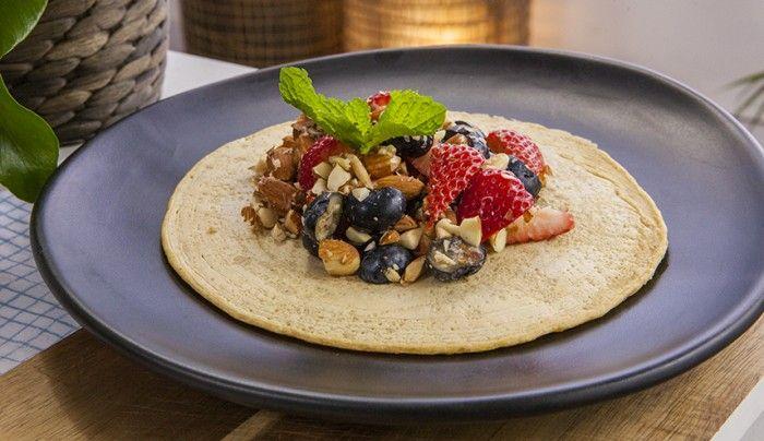 Gluten-Free Chickpea Flatbreads with Berry Almond Salsa   Good Chef Bad Chef