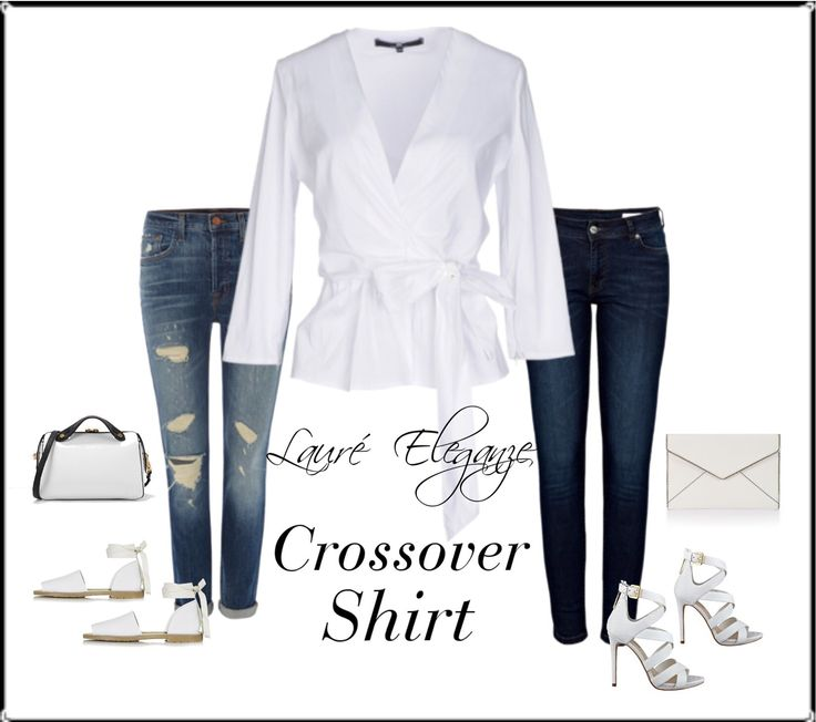 White Crossover Shirt - Available from Lauré Eleganze