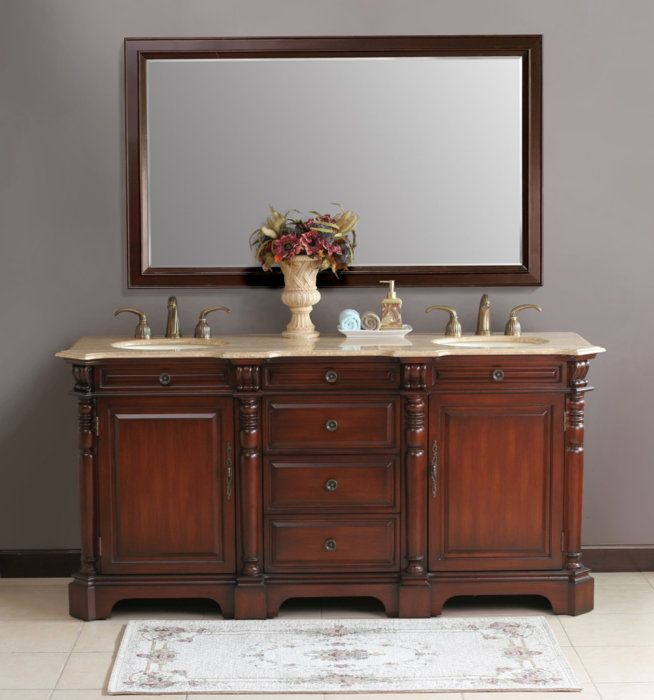 Double Sink Bathroom Vanity Decorating Ideas 57 best bathroom sink images on pinterest | bathroom sinks, modern