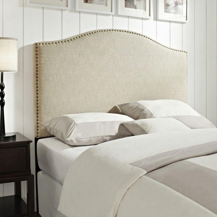 dosseret de lit capitonné en blanc pour déco contemporaine