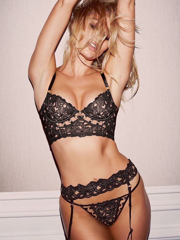 This luxe demi's in the details. And there are SO MANY: cutouts, rings, embroidery…   Victoria's Secret Embroidered Long Line Demi Bra