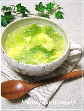 炒めたキャベツの♡中華スープ