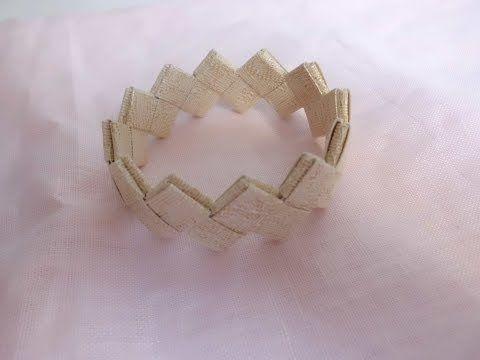 Tutorial bracciale realizzato con carta da parati stile origami