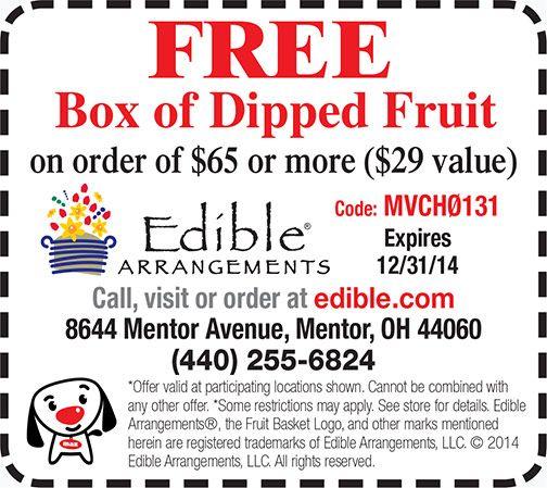 Edible Arrangements Coupon - Mentor, Ohio