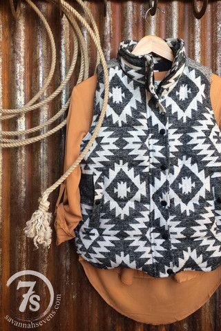 The Breck – southwest puffer vest from Savannah Sevens Western Chic