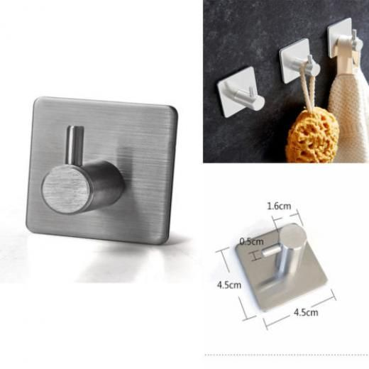 Silver Waterproof Stainless Steel Clothes Rack Holder Robe Hook Wall Hanger Wall-mounted China 4.5*4.5cm Eb3569mxlgmf2uf