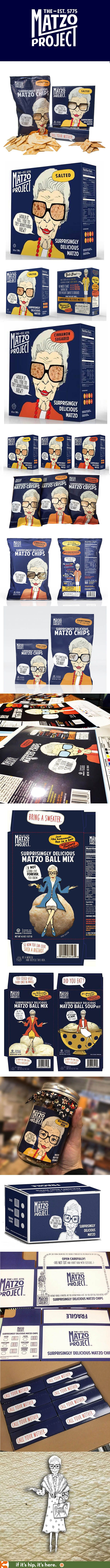 The packaging and positioning for The Matzo Project products is simply adorable!