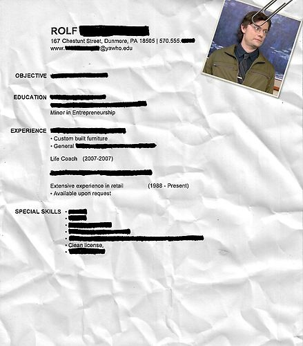 12 best Resumes images on Pinterest Offices, Board and Do you - dwight schrute resume