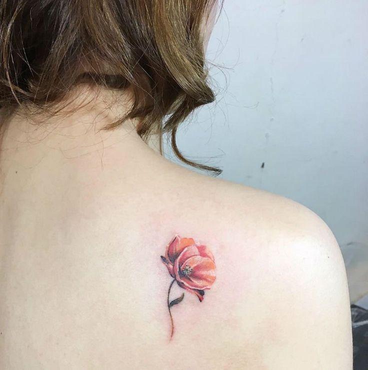 dc7b5ee253724 24 Charming Poppy Tattoos | Tattoos | Tattoos, Poppies tattoo, Flower  tattoos