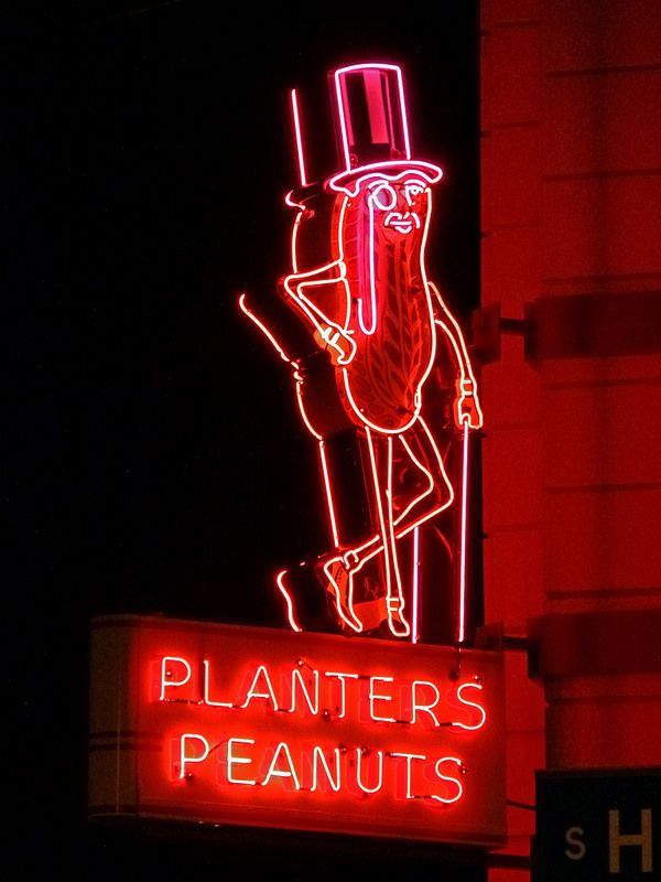 Columbus, OH Planters Peanuts neon sign | Flickr - Photo Sharing!
