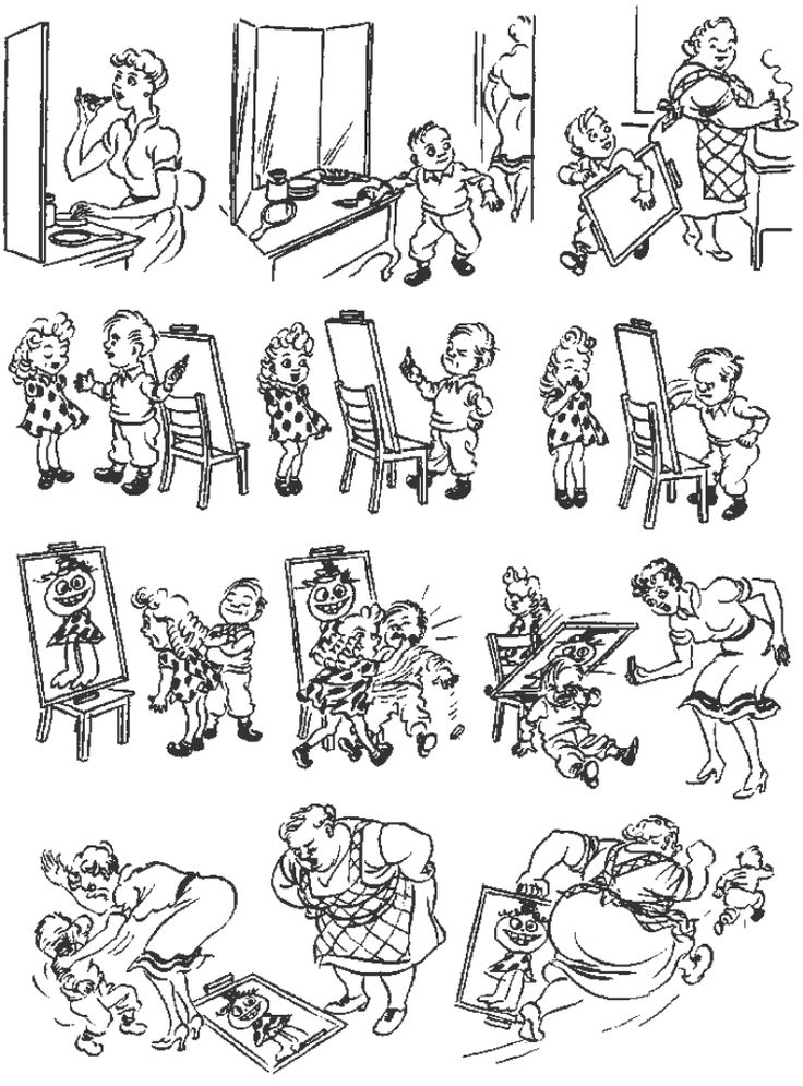 Critics. Vintage cartoons by the Danish artist Herluf Bidstrup.