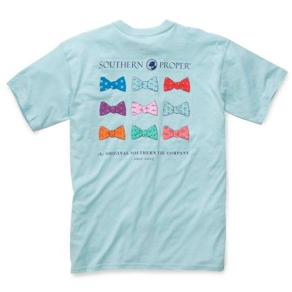 Southern Proper Aqua Bowtie Tee ($32) ❤ liked on Polyvore featuring men's fashion, men's clothing, men's shirts, men's t-shirts, aqua, mens aqua dress shirt and mens t shirts
