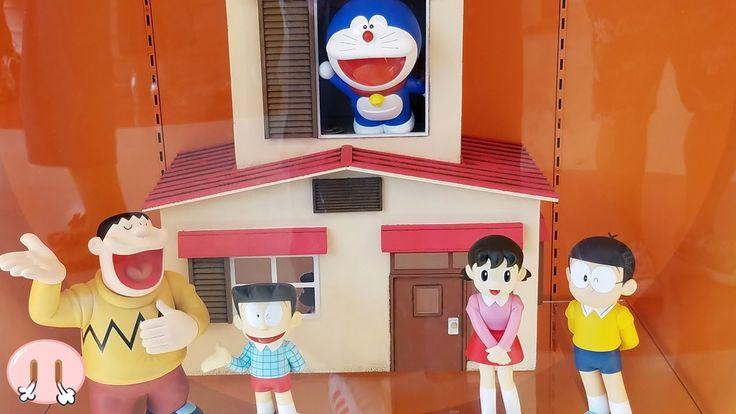 ドラえもんミュージアム❤藤子不二雄ミュージアムに行ったよ♪ おもちゃ アニメ きれいなジャイアン バス 乗り物 アンパンマンおかあさん Toy ...