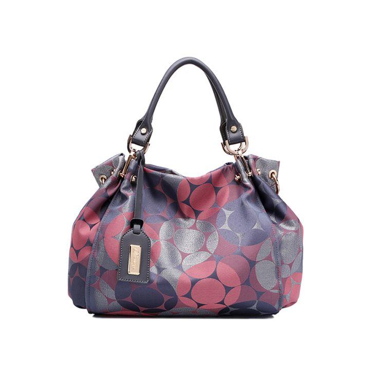 Original new fashion trend canvas with leather portable Messenger bag oblique cross shoulder bag handbag