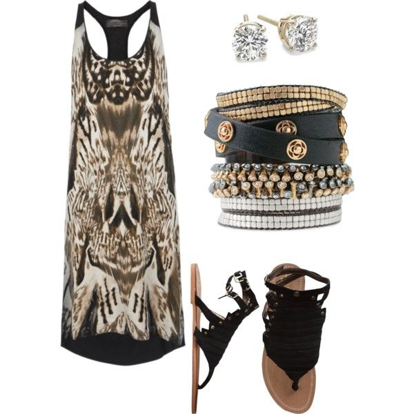 Summer Rocker, created by brittanylaurenmua on Polyvore