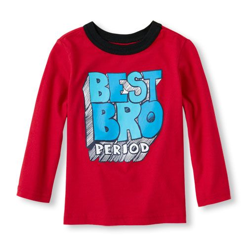 Long Sleeve 'Best Bro Period' Graphic Tee | The Children's Place