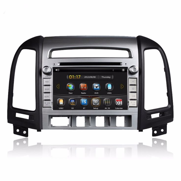 "HD 2 din 7"" Car DVD GPS Navigation for HYUNDAI SANTA FE 2006-2012 With 3G Bluetooth IPOD TV USB SWC Radio /RDS AUX IN"