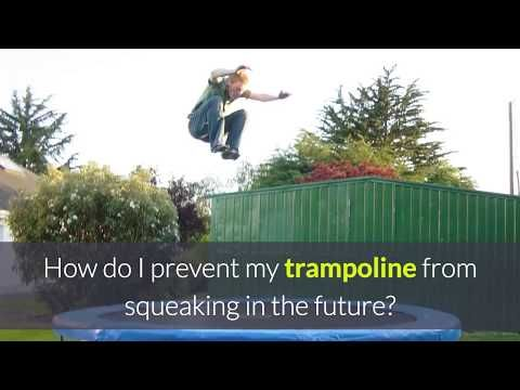 How to Stop a Trampoline From Squeaking (EASY AND CHEAP) - Quiet Trampoline