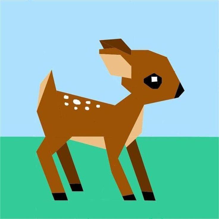 Woodland Deer Paper Pieced Pattern | Craftsy
