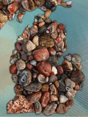 Michigan Rocks!: Rocks Puzzles, Michiganrock Statetreasur, Rocks Gems, Puree Michigan, Michigan Stones, Petoskey Stones, Michigan Rocks, 550 Piece Puzzles, Great Gifts