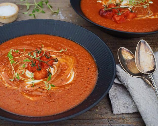 Bagt tomatsuppe med frisk timian