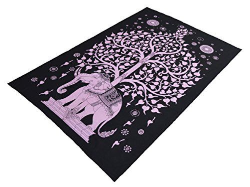 Elephant Under Tree Mandala Tapestry Hippie Tapestries Wall Tapestries Tapestry Wall Hanging Indian Tapestry Bohemian Bedding Psychedelic tapestry Size 60 x 85 Inchs >>> You can get more details by clicking on the image.