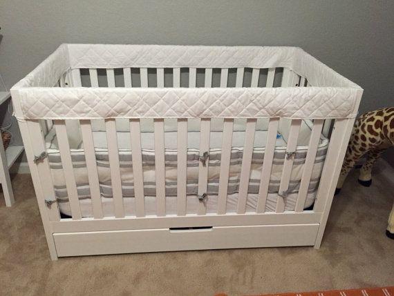 ORGANIC Crib Guards  4pc Custom Crib Rail Teething by MegSewCool