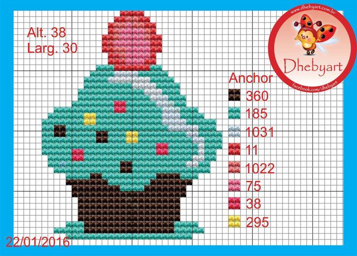 Dhebyart: Cupcake divertido!