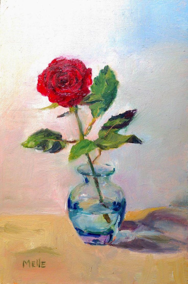 Studio Melle: Loverly oil on board Rose