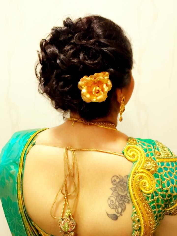 indian hair style design indian s bridal reception hairstyle by swank studio 4908 | d04143cc782ed42bc812d6833b4e3d9c