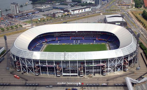 It is its 75th birthday today. The most beautiful stadium of the Netherlands, 'De Kuip'. Homeground of Feyenoord. Each time you enter 'De Kuip' you'll get goosebumps all over your body.