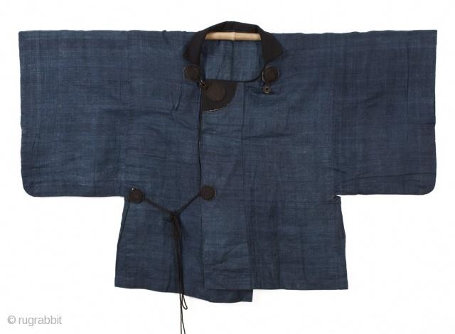 Traveler's cape made from indigo-dyed kudzo vine, Meiji period (1868)