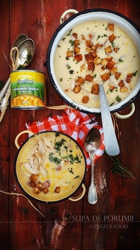 Angel's food: Supa de porumb cu piept de pui si carnaciori pican...