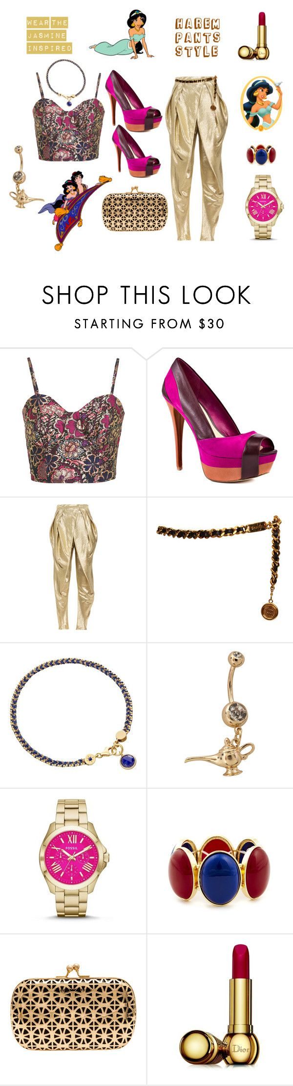 """fantasy"" by amruta-23 ❤ liked on Polyvore featuring Miss Selfridge, Jessica Simpson, Balmain, Chanel, Astley Clarke, FOSSIL, Sole Society, Urban Expressions, Disney and Christian Dior"