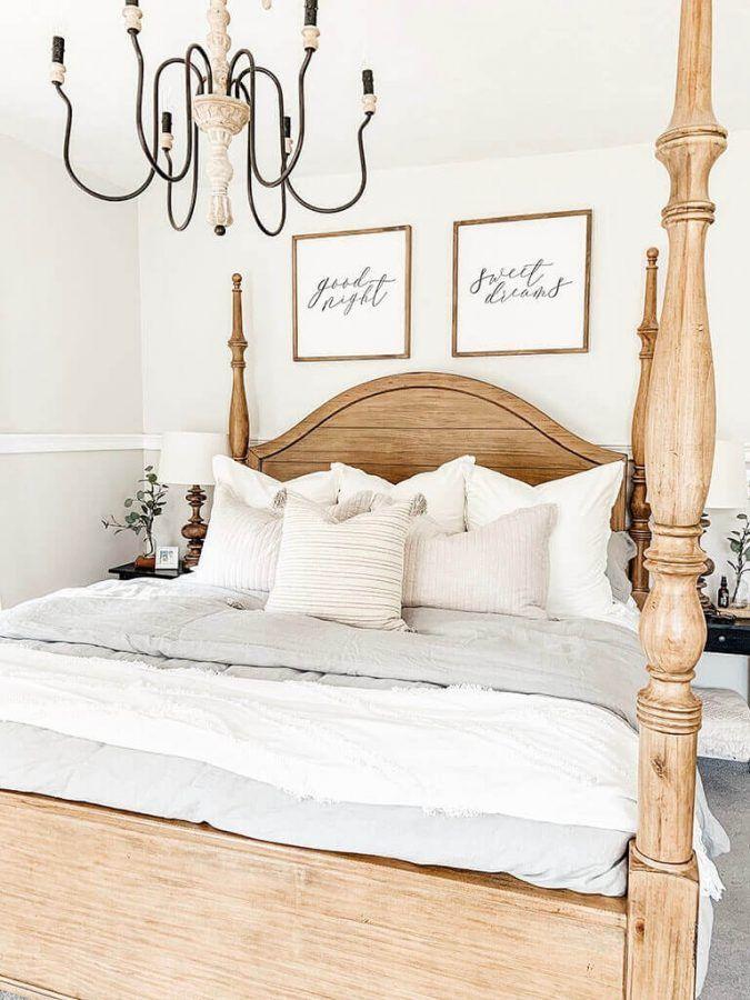33 Most Popular Farmhouse Bedroom Designs For Your Next Renovation Master Bedroom Bed Bedding Master Bedroom Bedroom Design